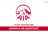 AIA ~ Admin & HR Assistant