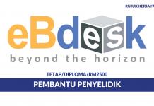 EBdesk Malaysia ~ Pembantu Penyelidik