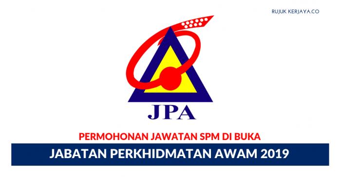 Jawatan Kosong Jabatan Perkhidmatan Awam (JPA) 2019
