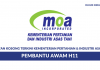 Permohonan Jawatan Pembantu Awam H11 dalam Kementerian Pertanian & Industri Asas Tani 2018 di Buka - 108 Kekosongan Seluruh Negara