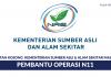 Permohonan Jawatan Pembantu Operasi N11 di Kementerian Sumber Asli & Alam Sekitar Malaysia di Buka