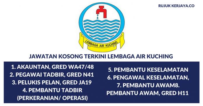 Permohonan Jawatan Kosong Lembaga Air Kuching Dibuka