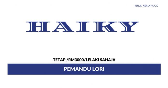 Pemandu Lori Haiky ~ Gaji RM 2000 / Lelaki Sahaja