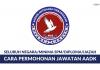 Permohonan Jawatan Agensi Antidadah Kebangsaan AADK Terbuka Lelaki & Wanita