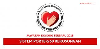 Permohonan Jawatan Kosong Sistem Porter di Hospital Melaka