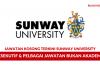 Sunway University ~ Eksekutif & Pelbagai Jawatan Bukan Akademik
