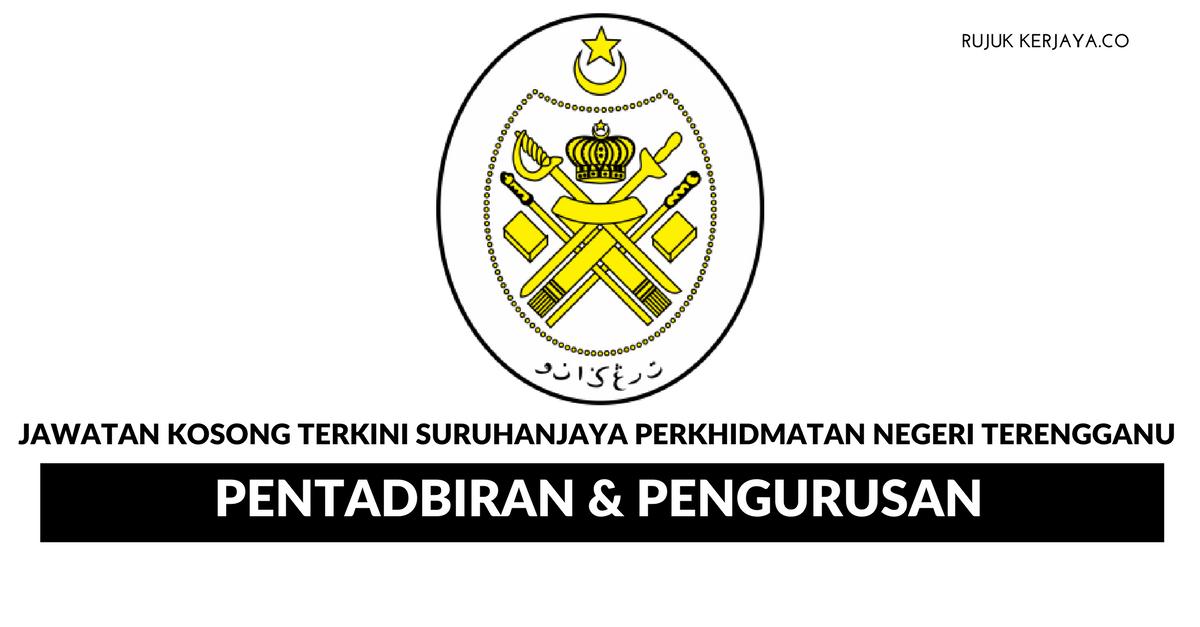 Permohonan Jawatan Suruhanjaya Perkhidmatan Negeri Terengganu Spnt