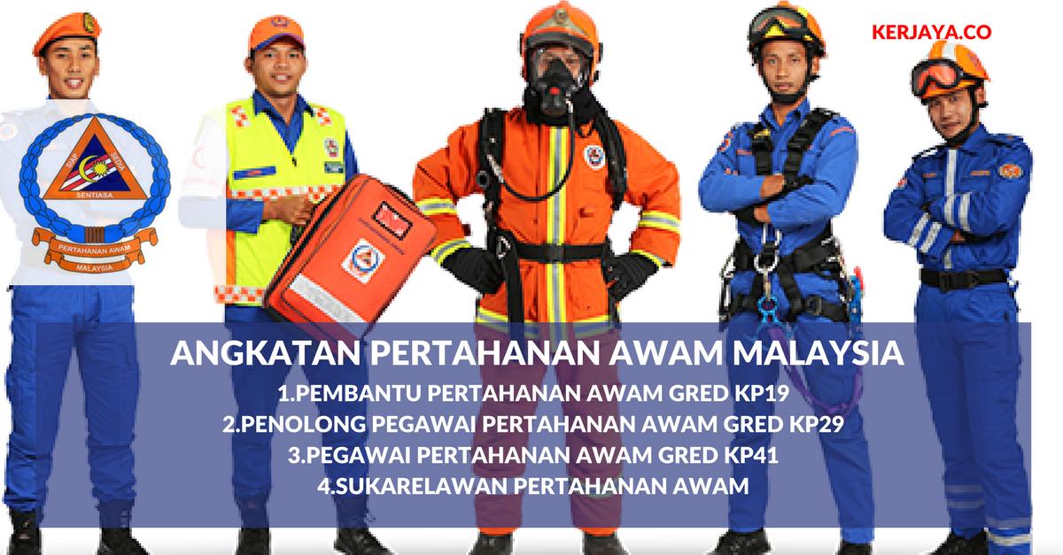 Permohonan Jawatan Angkatan Pertahanan Awam Malaysia Di Buka Sepanjang Tahun