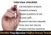 Ini Checklist Yang digunakan Majikan Semasa Temuduga Kerja Kerajaan
