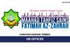 Maahad Tahfiz Sains Fatimah Az-Zahrah ~ HR Officer