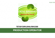 Oem Brand ~ Production Operator