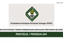 Permohonan Jawatan Perbadanan Kemajuan Pertanian Selangor PKPS