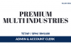 Premium Multi Industries ~ Admin