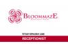 Bloommaze Hotel ~ Receptionist