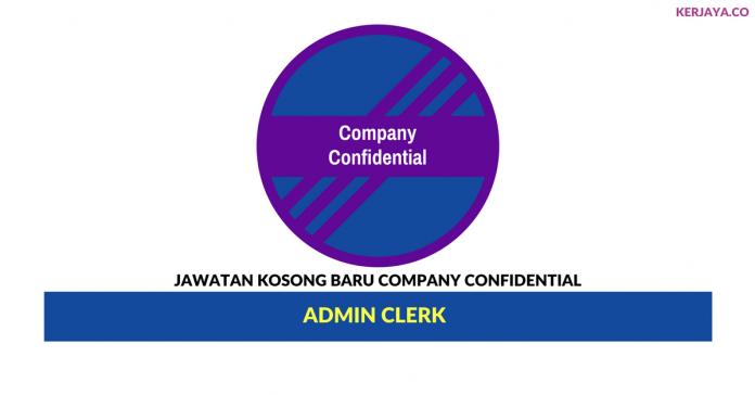 Permohonan Jawatan Kosong Company Confidential