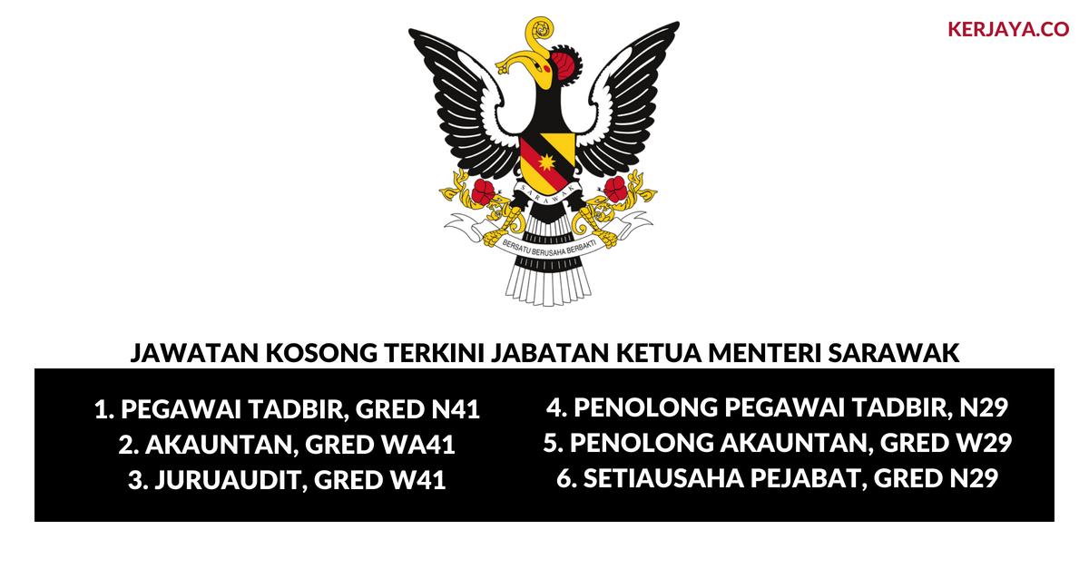 Jabatan Ketua Menteri Sarawak Kerja Kosong Kerajaan