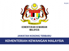 Permohonan Jawatan Kosong Kementerian Kewangan Malaysia di Buka