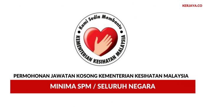 Permohonan Jawatan Kosong Kementerian Kesihatan Malaysia~ 43 Kekosongan Seluruh Negara