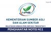Permohonan Jawatan Penghantar Notis N11 Kementerian Sumber Asli & Alam Sekitar
