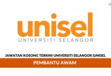 Permohonan Jawatan Universiti Selangor (UNISEL) di Buka