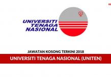 Permohonan Jawatan Universiti Tenaga Nasional (UNITEN) di Buka