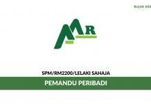 Pemandu Peribadi Alpha Astral Realty ~ Gaji RM2200/ Lelaki Sahaja