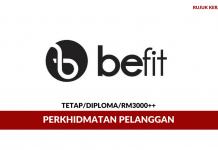 Khidmat Pelanggan Befit Radiance ~ Minima Diploma / Gaji RM3000++