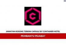 Permohonan Jawatan Kosong Capsule By Container Hotel