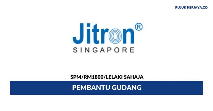 Pembantu Gudang Jitron Healthcare ~ Gaji RM1800 / Lelaki Sahaja