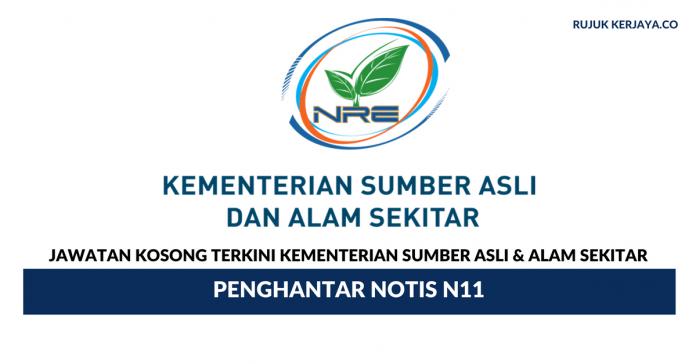 Permohonan Jawatan Kosong Kementerian Sumber Asli & Alam Sekitar di Buka