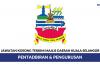 Majlis Daerah Kuala Selangor ~ 14 Kekosongan Jawatan Pentadbiran & Pengurusan