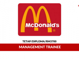 McDonald's Malaysia ~ Management Trainee