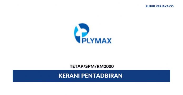 Kerani Pentadbiran Plymax Veneer ~ Gaji RM2000