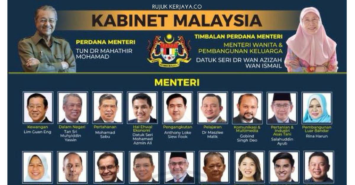 [Senarai Penuh] Menteri Kabinet 2018 & Timbalan Menteri Beserta Portfolio Untuk Rujukan Sesi Temuduga Kerja Kerajaan Nanti (1)