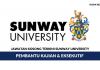 Sunway University ~ Pembantu Kajian & Eksekutif
