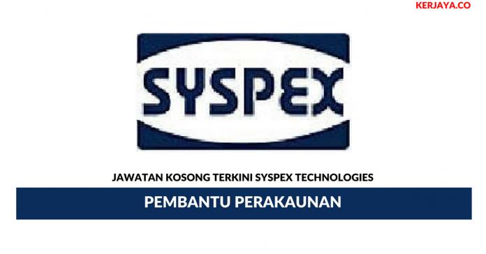 Permohonan Jawatan Kosong Syspex Technologies