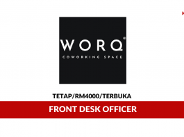 WORQ Coworking Space ~ Front Desk Officer