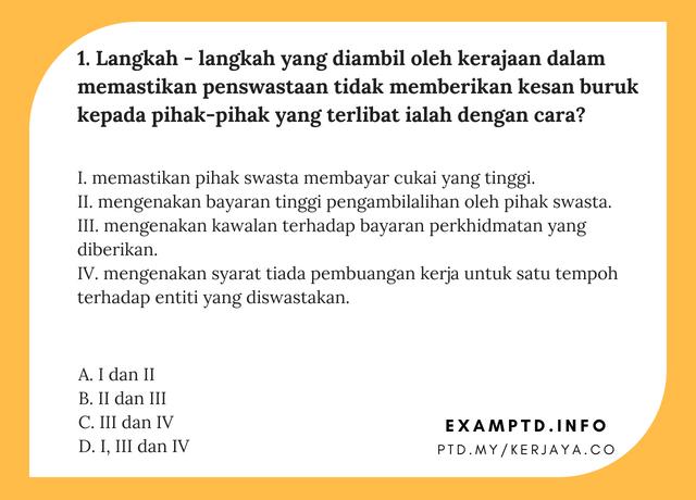 Contoh Soalan PTD