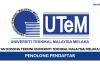 Universiti Teknikal Malaysia Melaka (UTeM) ~ Penolong Pendaftar