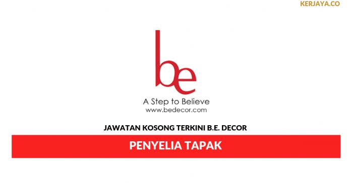 Permohonan Jawatan Kosong B.E. Decor