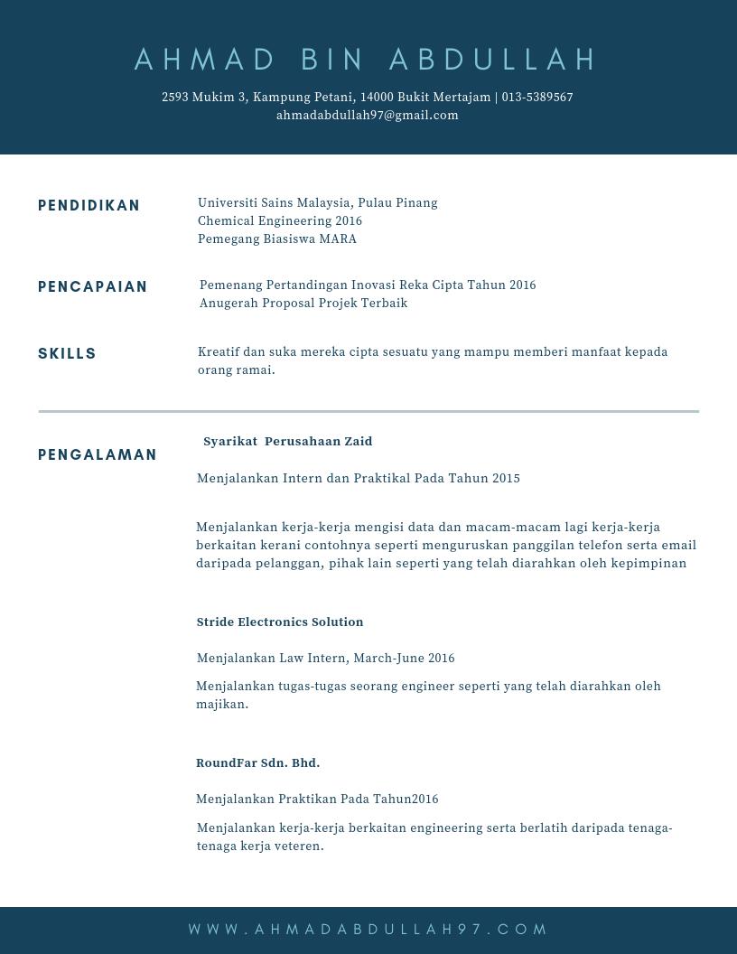 contoh resume akademik 1  u2022 kerja kosong kerajaan