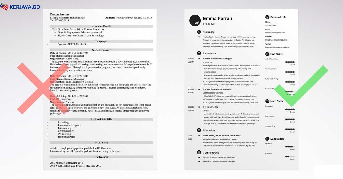 Contoh Template Resume Simple Untuk Rujukan Anda Biar Ringkas Tapi Padat