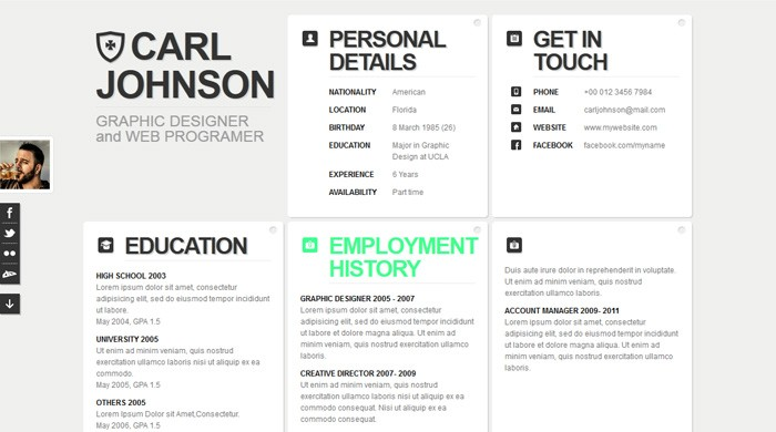 contoh resume moden untuk rujukan anda  download template