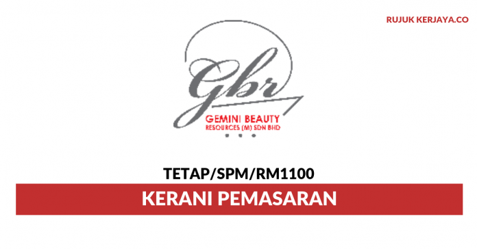 Gemini Beauty Resources ~ Kerani Pemasaran