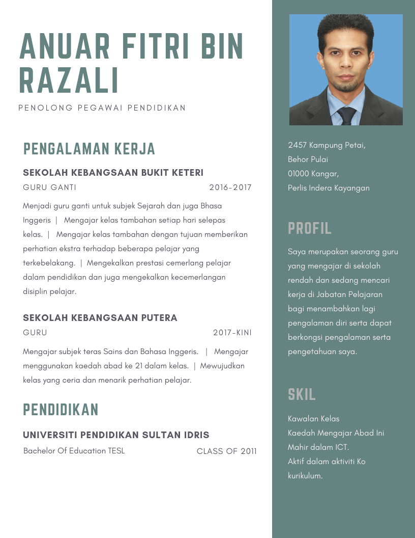 Contoh Resume Akademik 2 Kerja Kosong Kerajaan