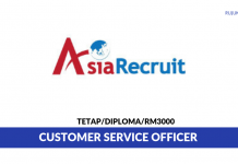 Agensi Perkejaan Asia Recruit ~ Customer Service Officer