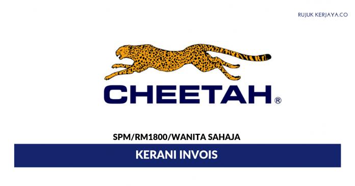 Cheetah Coporation ~ Kerani Invois / Gaji RM1800++