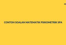 Contoh Soalan Matematik Psikometrik SPA