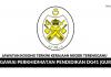 Permohonan Pegawai Perkhidmatan Pendidikan DG41 (Guru) Negeri Terengganu di Buka