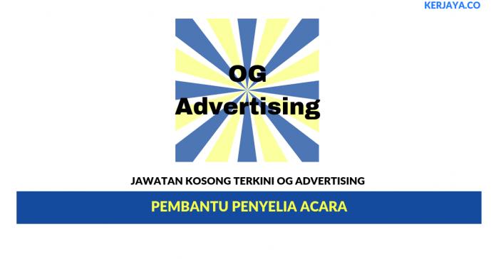 Permohonan Jawatan Kosong OG Advertising